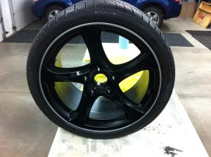 Plasti Dip glossifier on matte black wheel