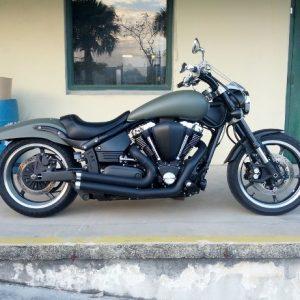 Full Dip camo-green-motorbike